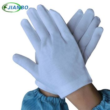 12 pairs White Thicker Cotton Serving Waiters Concierge Ceremonial Butler Snooker Equestrian Driver Jewelry Suck Sweat Gloves