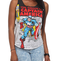 Marvel Universe Captain America Girls Tank Top