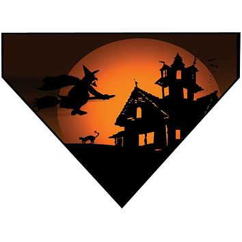 Halloween Over the Collar Dog Bandana - Witch