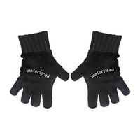 Motorhead Logo Knit Gloves Black