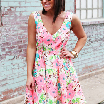 Peony Party Dress