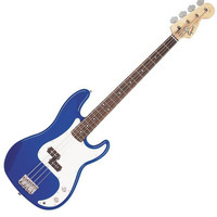 Fender Squier 4 String Electric Bass Used Trans Blue