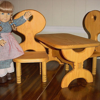 American girl doll table and chair set or all by Keatingwoodcraft