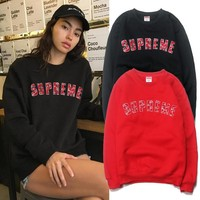 Supreme Fashion Hip-hop Star Round-neck Sweatershirt [46603436047]