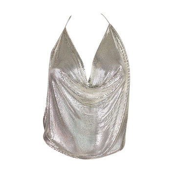 Vintage Whiting & Davis Metal Mesh Halter Top