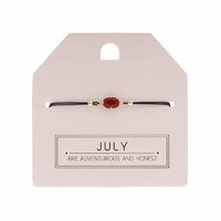 July Birthstone Bracelet - Red