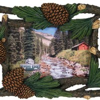 Outdoor Frames - Pine Tree/Cones Picture Frame