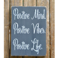 Good Vibes Wood Sign Positive Life Mind Inspirational Wall Art Print Plaque Chalkboard Teen Gift Office Strength Inspirational Motivational