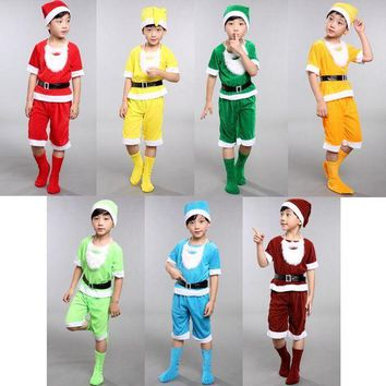 CREY6F Seven Dwarfs costume for children christmas costumes for kids snow white princess and the seven dwarfs festival cosplay