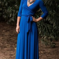 The Jonna Wrap Maxi - Royal
