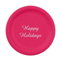 Holiday Red Paper Plates by Janz 7 inch
