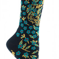 Turkish Flower Sock-Fall for this Pretty Petaled Pair.