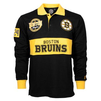 Boston Bruins NHL Wordmark Long Sleeve Rugby Polo