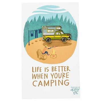 Life Is Better When Camping Enamel Pin