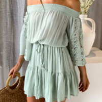 Spring and summer new fashion dress lace stitching women's skirt holiday hot sale