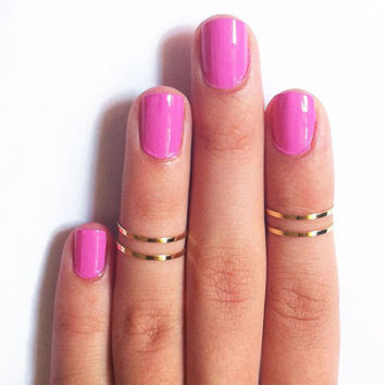 4 pieces Gold Silver Knuckle Rings Women Girls Simple Round Circle Mid Finger Ring Wedding Bands Engagement Jewelry Accessories