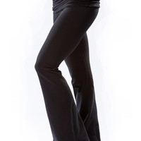 Hard Tail Scruncy Waistband Wide Flare Pant
