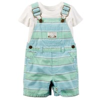 Carter's Tee & Stripe Shortalls Set - Baby