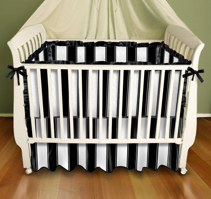 black and white stripe baby bedding from my. Black Bedroom Furniture Sets. Home Design Ideas