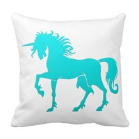 Dancing Unicorn Silhouette Pillow