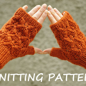 Lace Mittens Knitting Pattern : Lace fingerless mittens knitting pattern, from ESTtoYou on ...