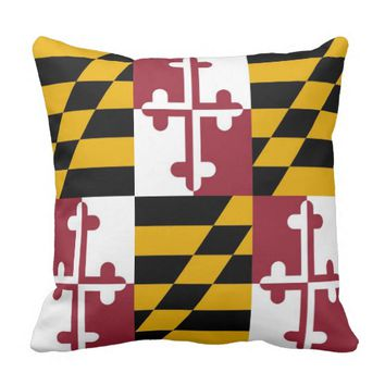 Maryland State Flag American MoJo Pillow