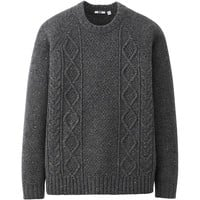 MEN HEAVY GAUGE CREW NECK SWEATER