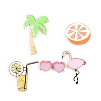Enamel Brooch Pin Set Cute Brooches Patches for Clothes/Bags/Backpacks/Jackets
