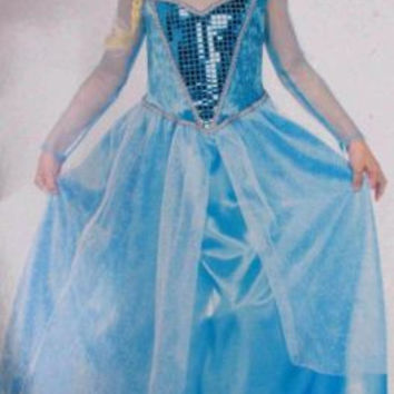 Enchanted Girls S Fantasy Snow Queen Princess Halloween Costume Dress Up