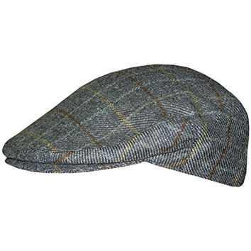 Men's Irish Hats of Ireland Tweed Flat Cap - Plaid - X Large