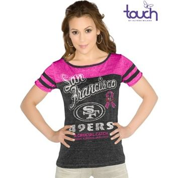 Touch by Alyssa Milano San Francisco 49ers Ladies BCA All Star Slim Fit Shirt - Charcoal/Pink