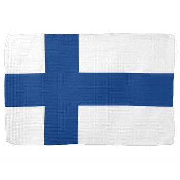 Kitchen towel with Flag of Finland