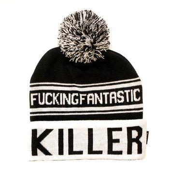 Death / Killer Pom Pom Beanie | KILLSTAR