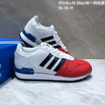 KUYOU A399 Adidas Originals ZX700 Leather Sports Running Shoes White Red Blue