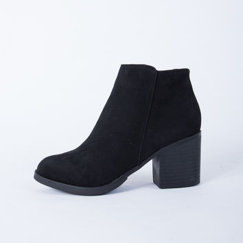Casual Suede Heel Booties