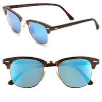 Men's Ray-Ban 'Flash Clubmaster' 51mm Sunglasses