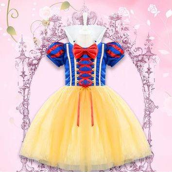 Newborn Baby Halloween Cosplay Costume 1 2 Year Girl Party Dress Role-play Clothing Little Baby Girl Princess Snow White Dresses