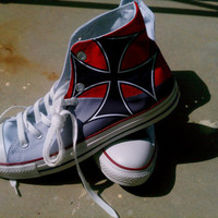 Red Baron Theme High Top Chuck Taylors