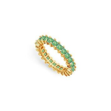 Emerald Eternity Band : 14K Yellow Gold  3.00 CT TGW