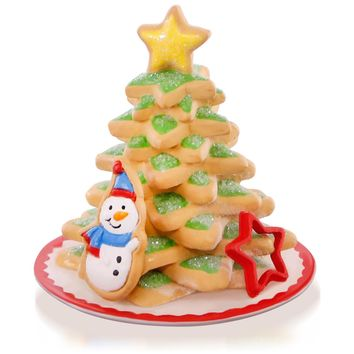 Season's Treatings Cookie Tree Snowman Ornament