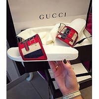 Gucci Casual Fashion Women Stripe Sandal Slipper Shoes