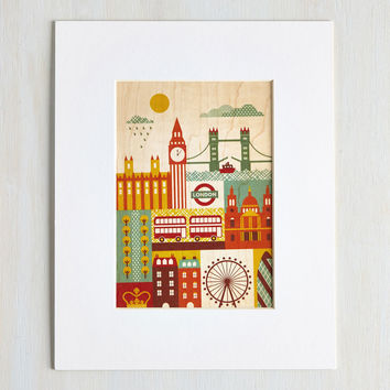 I Wood Leave Tomorrow Print in London - 10 x 8""