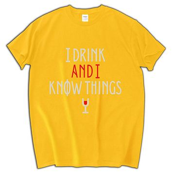 I Drink And I Know Things Print Short Sleeve Shirt