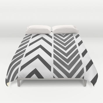 Black and White Bed Cover - Duvet Cover Only - Bed Spread - Bedroom Decor - Black and White Arrow Art - Made to Order
