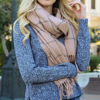 Leto Collection Pink Windowpane Blanket Scarf | zulily