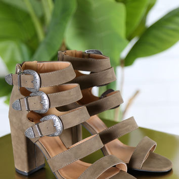 Buckle Up Open Toe Sandals