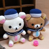 "Rilakkuma Relax Bear 7"" Plush Figure Doll x 2 Sailor"