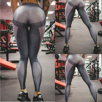 Futuristic Metallic Style Yoga Pants