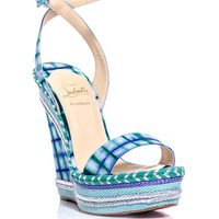 Duplice 140mm wedge sandals | Christian Louboutin | MATCHESFAS...