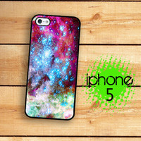 iPhone 5 Case Outer Space Nebula 1  / Hard Case For iPhone 5 Stars and Glaxy Print. Plastic or Rubber Trim
